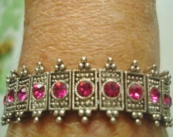 Rose  Rhinestone Expansion Bracelet