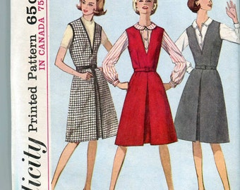 Simplicity 5609 Vintage 60s Plus Size How-to-sew Jumper and Blouse Pattern UNCUT 48 bust