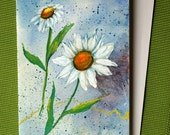 Daisy 5 - Hand Painted Floral Watercolor Greeting Card