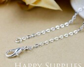 "10pcs High Quality 18"" Silver Plated Long Chain Necklace (W168)"