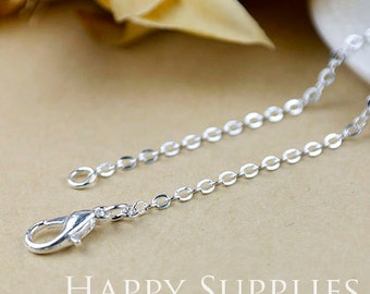 """10pcs High Quality 18"""" Silver Plated Long Chain Necklace (W168)"""