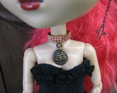 Aum Choker Necklace for Pullip, Blythe and Dal Fashion Dolls