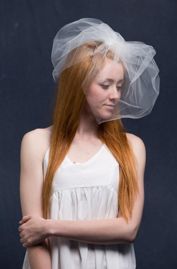 Wedding Veil, Bubble Veil, Double Birdcage Veil, Bachelorette Veil