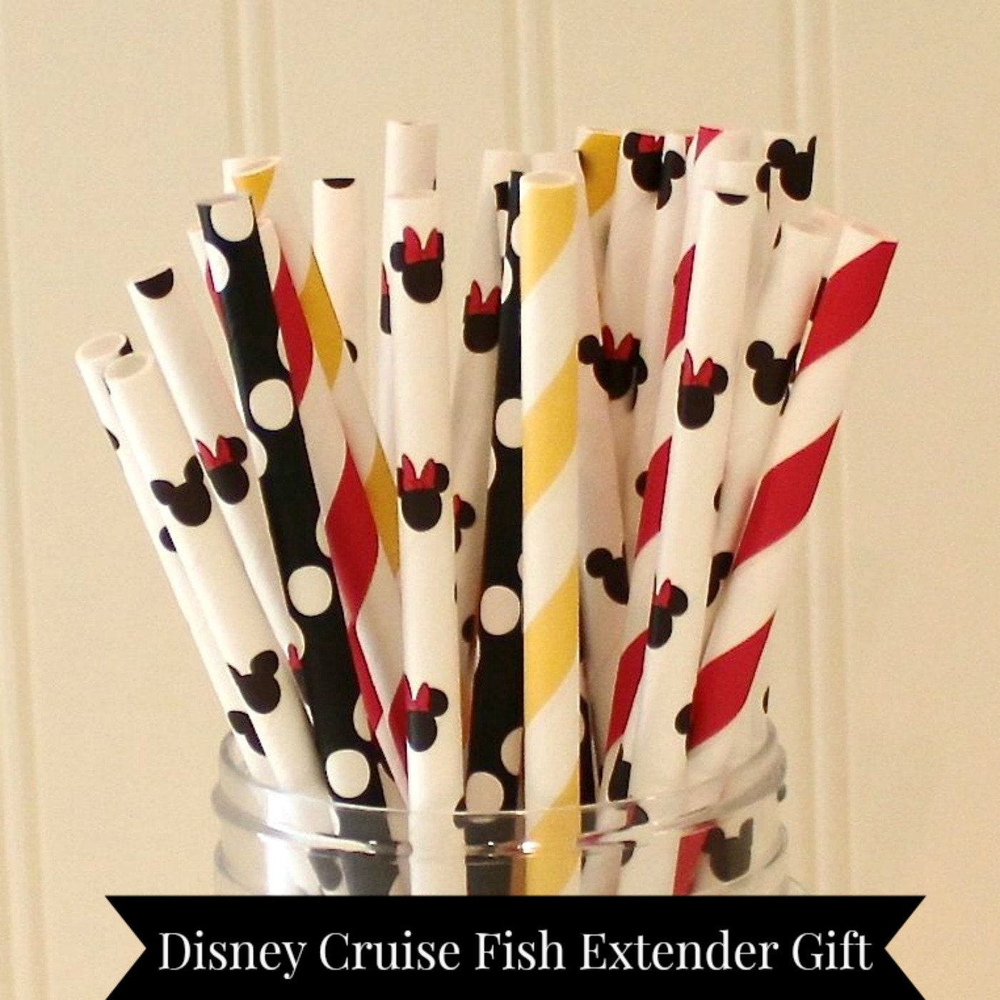 Disney cruise fish extender gift 100 paper straws mickey for Disney cruise fish extender