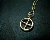SUN CROSS necklace in sterling silver 18K gold-plating christian jewelry - Unique handmade jewelry - Religious symbol necklace for her