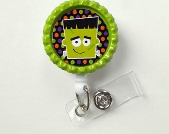 Freddy the Monster - Name Badge Holder -Pediatric Badge Reel  - RN Badge - Teacher  Badge - Nurses Badge - Halloween Badge - Hospital Badge