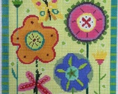 Summer & Spring Gardens Needlepoint Painted Canvas