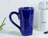 RESERVED for Dianna  4 BlueRoomPottery Colorful Cobalt Frothy Speckled Blue Mugs