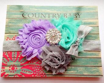 Pastels Baby Headband...Baby Headband...Toddler Headband...Purple baby Headband