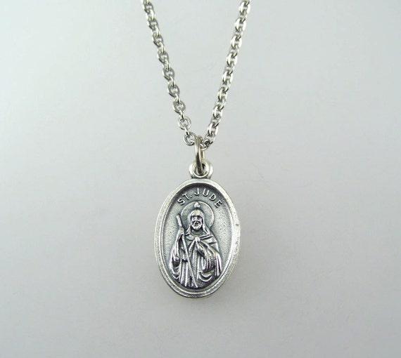 jude medal necklace by hopefaithandbeads on etsy