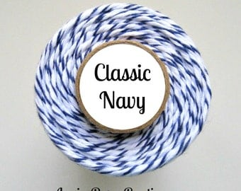 Navy Blue Bakers Twine by Trendy Twine -  Classic Navy - Packaging, Crafting, Card Making, DIY, Gift Wrapping