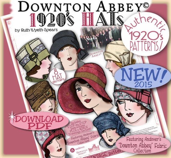 Downton Abbey Costumes Ideas 1920s Hats Pattern $9.99 AT vintagedancer.com