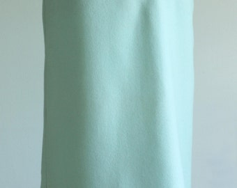 ON LAYAWAY Prettiest 1950s 100% wool pencil skirt in Robbins egg blue Size small