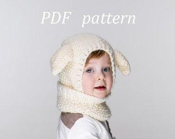 NEW PDF Little Lamb Coverall Hat Knitting Pattern