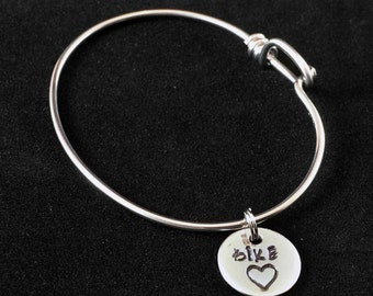 Bike Heart Charm Bicycle Spoke Bracelet