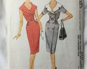 McCalls 5327 Double Breasted 1960s Wiggle Dress Vintage Sewing Pattern Bust 31