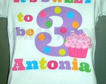 Girls Birthday Shirt,  Cupcake Birthday Shirt, It's Sweet to be birthday shirt, Cupcake birthday Tee,Sweet Shop Birthday,Candy Shop Birthday