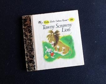 1980s Tawny Scrawny Lion Little Little Golden Book, Small Vintage Children's Book