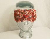 Floral Sleep Mask Flowers Eye Shade Red Travel Mask Pink Blindfold Sleeping Mask Red White Blue