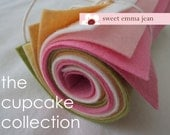 9x12 Wool Felt Sheets - The Cupcake Collection - 8 Sheets of Felt