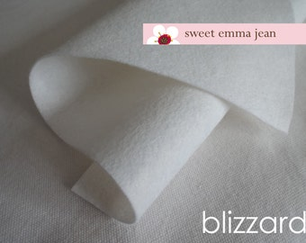 Wool Felt 1 yard cut - Blizzard