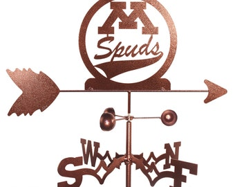 Hand Made Moorhead Spuds Weathervane New