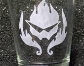 Gurren Lagaan etched shot glass
