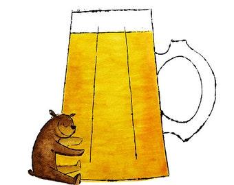 Beer Hug - print