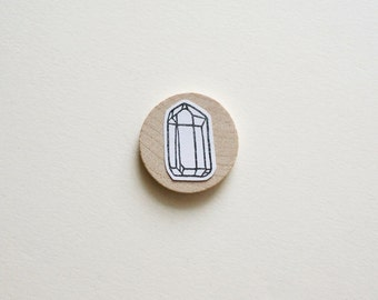 Raw Quartz No. 1 - Hand Carved Rubber Stamp