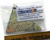 Road Map Garland - Custom Banner - Your State or City - Mini and Sweet - Going Away Party Decoration - Paper Bunting - Vintage Road Maps