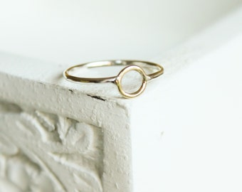 Stacking ring solid Gold and Silver ring