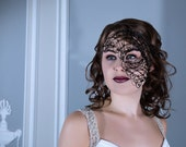 Womens black half mask, Half face mask, Masquerade ball mask, Mardi Gras mask, Halloween mask, Costume accessories, Gothic mask, Womens mask