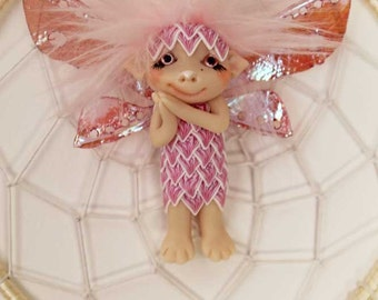Dreamcatcher fairy fae faerie troll gnome ooak art doll fantasy sculpture
