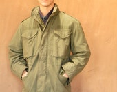 MILITARY green winter lining GRUNGE zip up jacket