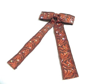 Vintage Western Tie Mens Copper Maverick Tie with Rhinestones - on sale