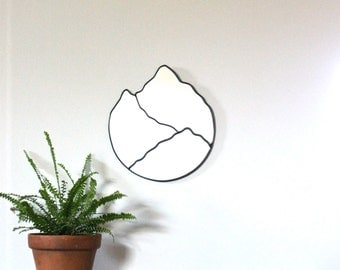 Mountain Mirror Handmade Mountain Range Wall Mirror Organic Mtn Cascades Blue Ridge Great Smoky Mountains Appalachian Smokies