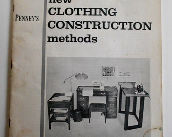 SALE!!! Penney's New Clothing Construction Methods. Vintage 57 booklet on sewing techniques. Ephemera
