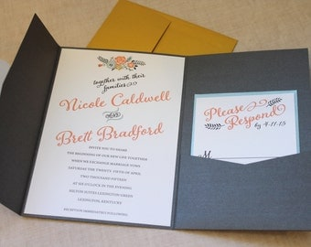 Floral Pocket Invitation