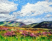 Giclee print, Hillside with Wildflowers, 5 x 7 in.