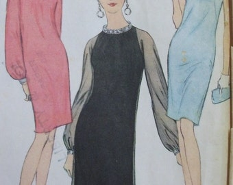 Vintage 1960's Dress Pattern McCalls 8499