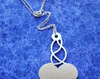 Discontinued- Whirlwind of Love - Design 2 - Necklace Pendant or Keychain