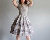 Vintage 1950s Dress - L'Aiglon 50s Dress - Cool and Calm Dress