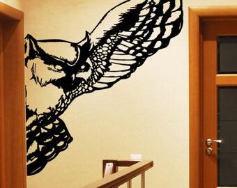 Vinyl Wall Art Decal Sticker Owl Wing 5481s