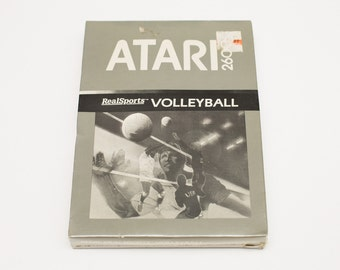Vintage 80s NOS Atari 2600 RealSports Volleyball Game, Factory Sealed
