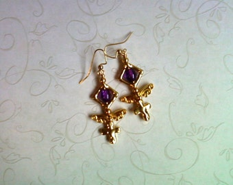 Gold and Purple Earrings (1936)