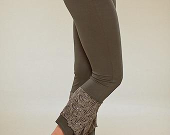 Net Leggings - Yoga Pixie Pants - burning man tights - women clothing - goa trance