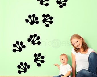 Wall decals GECKO FOOT PRINTS Surface graphics interior decor by Decals Murals