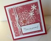 Christmas Greeting Cards:  Handmade Blank Note Card - Christmas Season
