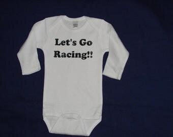 Infant Bodysuit   Let's Go Racing Bodysuit