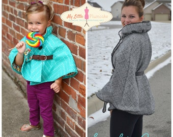 Sophie Cape PDF Sewing Pattern - 'Mommy & Me' Bundle